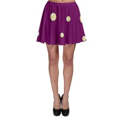 Purple and yellow bubbles Skater Skirt