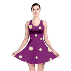 Purple and yellow bubbles Reversible Skater Dress