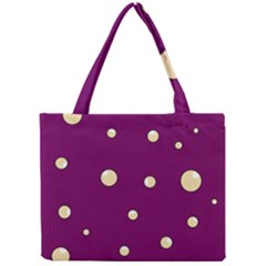 Purple and yellow bubbles Mini Tote Bag