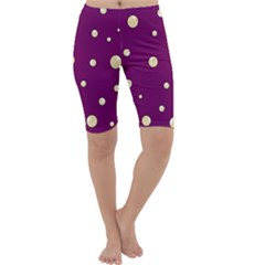 Purple and yellow bubbles Cropped Leggings