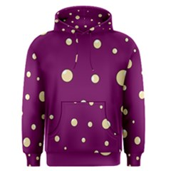 Purple and yellow bubbles Men s Pullover Hoodie
