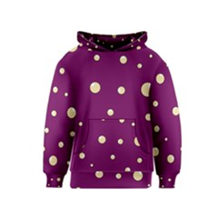 Purple and yellow bubbles Kids  Pullover Hoodie