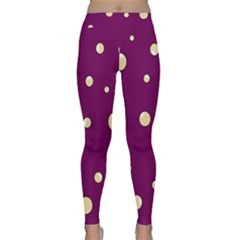 Purple and yellow bubbles Yoga Leggings