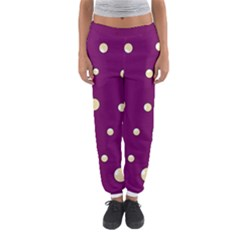 Purple and yellow bubbles Women s Jogger Sweatpants