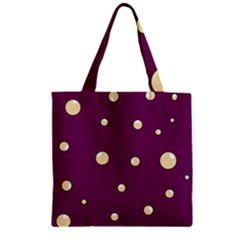 Purple and yellow bubbles Zipper Grocery Tote Bag