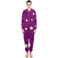 Purple and yellow bubbles Hooded Jumpsuit (Ladies)