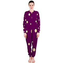 Purple and yellow bubbles OnePiece Jumpsuit (Ladies)