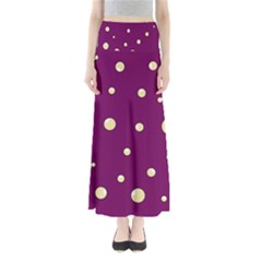Purple And Yellow Bubbles Maxi Skirts
