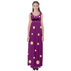 Purple and yellow bubbles Empire Waist Maxi Dress