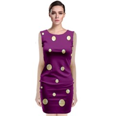 Purple and yellow bubbles Classic Sleeveless Midi Dress