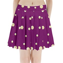 Purple And Yellow Bubbles Pleated Mini Mesh Skirt