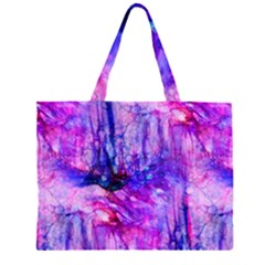Purple Alcohol Ink Abstract Large Tote Bag