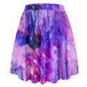 Purple Alcohol Ink Abstract High Waist Skirt View2