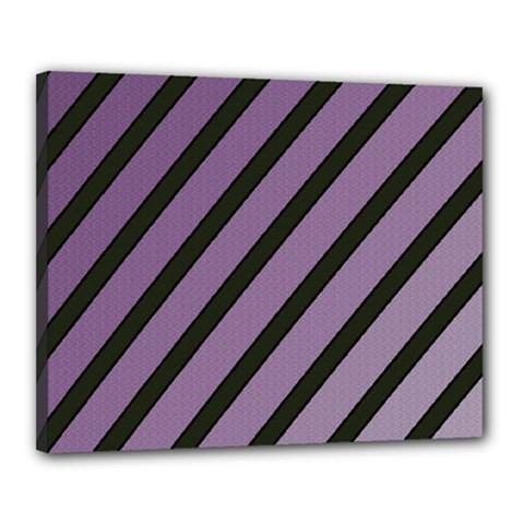 Purple elegant lines Canvas 20  x 16