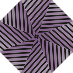 Purple elegant lines Hook Handle Umbrellas (Large)