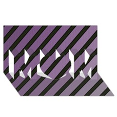 Purple Elegant Lines Mom 3d Greeting Card (8x4)