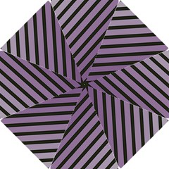 Purple elegant lines Hook Handle Umbrellas (Small)