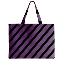 Purple elegant lines Zipper Mini Tote Bag