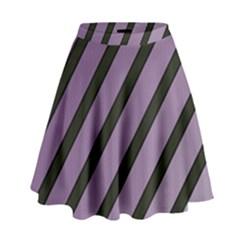 Purple elegant lines High Waist Skirt