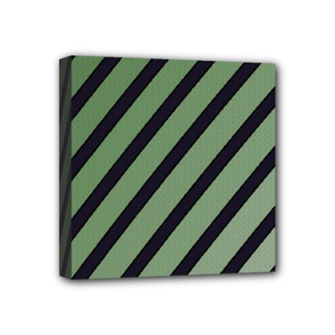 Green elegant lines Mini Canvas 4  x 4