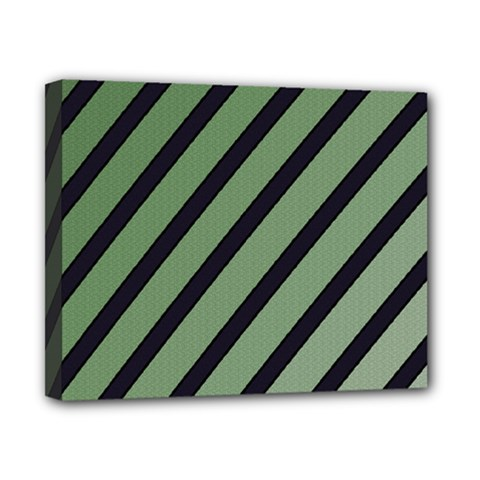 Green elegant lines Canvas 10  x 8
