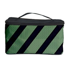 Green elegant lines Cosmetic Storage Case