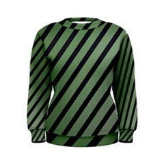 Green elegant lines Women s Sweatshirt