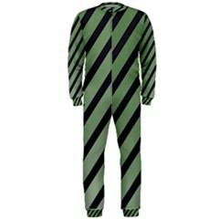 Green elegant lines OnePiece Jumpsuit (Men)