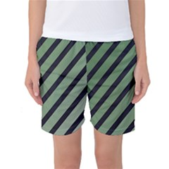 Green Elegant Lines Women s Basketball Shorts