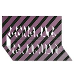 Elegant Lines Congrats Graduate 3d Greeting Card (8x4)