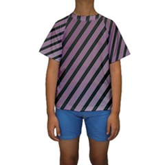 Elegant lines Kid s Short Sleeve Swimwear