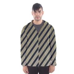 Decorative elegant lines Hooded Wind Breaker (Men)