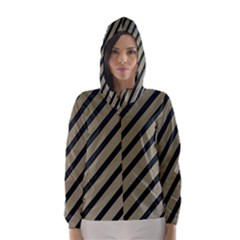 Decorative elegant lines Hooded Wind Breaker (Women)