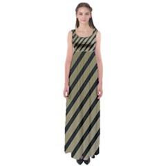 Decorative elegant lines Empire Waist Maxi Dress
