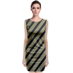 Decorative Elegant Lines Classic Sleeveless Midi Dress