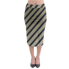Decorative Elegant Lines Midi Pencil Skirt