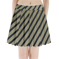 Decorative Elegant Lines Pleated Mini Mesh Skirt