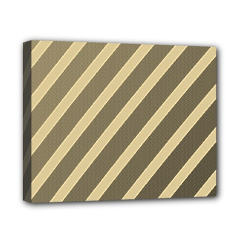 Golden elegant lines Canvas 10  x 8
