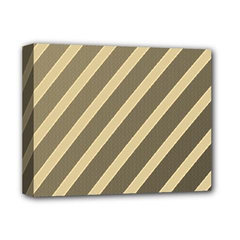 Golden elegant lines Deluxe Canvas 14  x 11