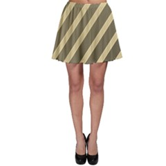 Golden elegant lines Skater Skirt