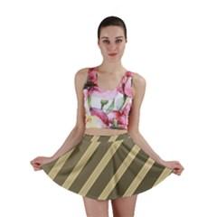 Golden elegant lines Mini Skirt