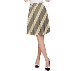 Golden elegant lines A-Line Skirt