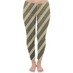 Golden elegant lines Winter Leggings
