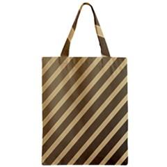 Golden elegant lines Zipper Classic Tote Bag
