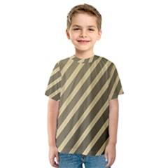 Golden elegant lines Kid s Sport Mesh Tee