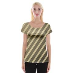 Golden elegant lines Women s Cap Sleeve Top