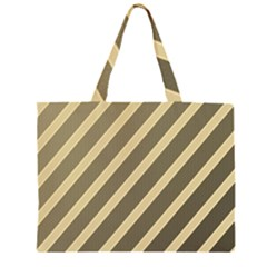 Golden elegant lines Zipper Large Tote Bag