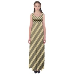 Golden elegant lines Empire Waist Maxi Dress