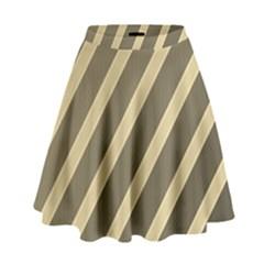 Golden Elegant Lines High Waist Skirt