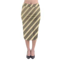 Golden Elegant Lines Midi Pencil Skirt